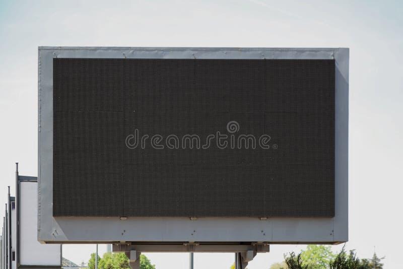 LED Billboard Screen. Empty Black Digital Billboard Screen for Advertising stock photos