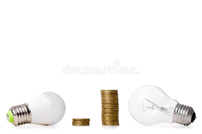 LED-Birne und Glühlampe lizenzfreies stockfoto