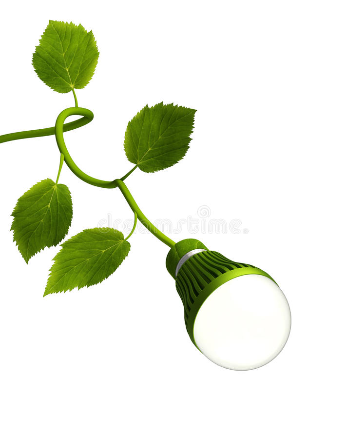 Download Led Bulb With Green Stem Royalty Free Stock Image - Image: 37267716