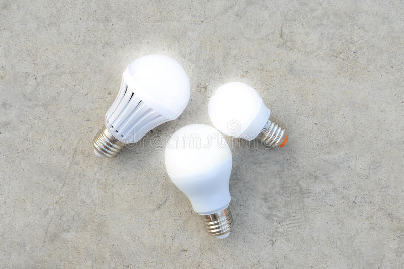 LED Bulbs with lighting stock images