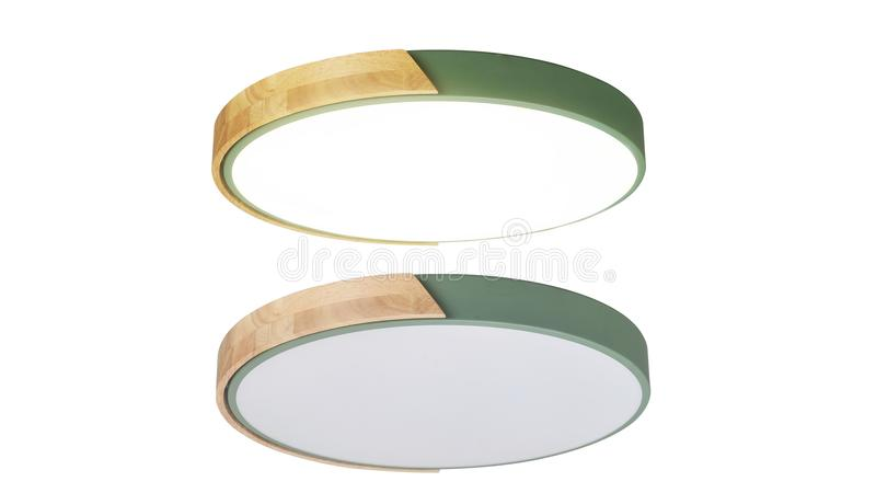 Led ceiling lamp roof light modern lighting. Led ceiling light used in modern construction, subway station, airport, railway station, bus station ,shopping mall royalty free stock photography