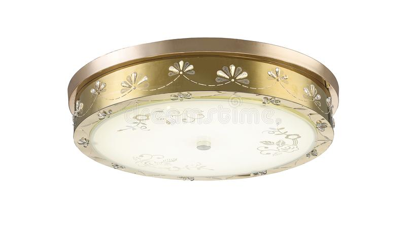 Led ceiling lamp roof light modern lighting. Led ceiling light used in modern construction, subway station, airport, railway station, bus station ,shopping mall stock photo