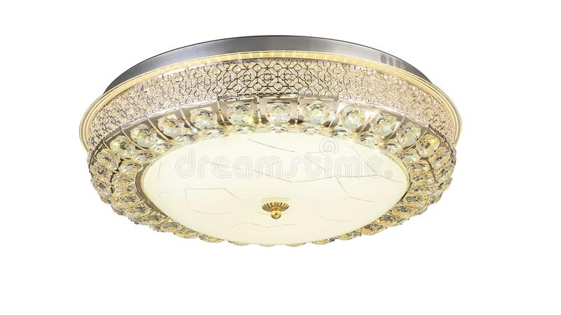 Led ceiling lamp roof light modern lighting. Led ceiling light used in modern construction, subway station, airport, railway station, bus station ,shopping mall royalty free stock images