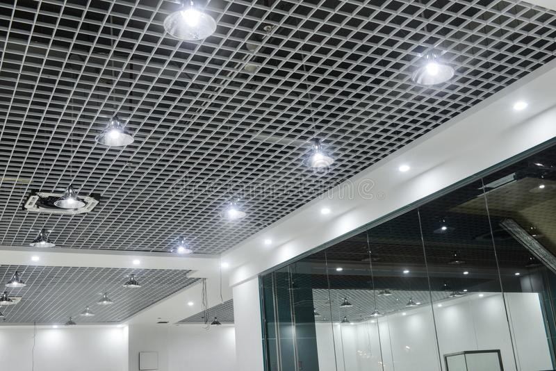 Led ceiling lights on modern commercial building suspended ceiling download led ceiling lights on modern commercial building suspended ceiling stock image image of green mozeypictures Gallery