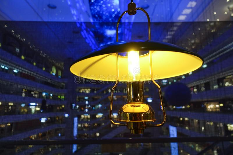 Umbrella led droplight. Led chandelier used in modern construction, subway station, airport, railway station, bus station ,shopping mall,office,shopping mall royalty free stock photography