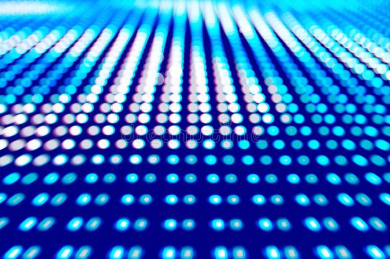 LED coloreado Defocused, fondo azul del extracto de la falta de definición foto de archivo