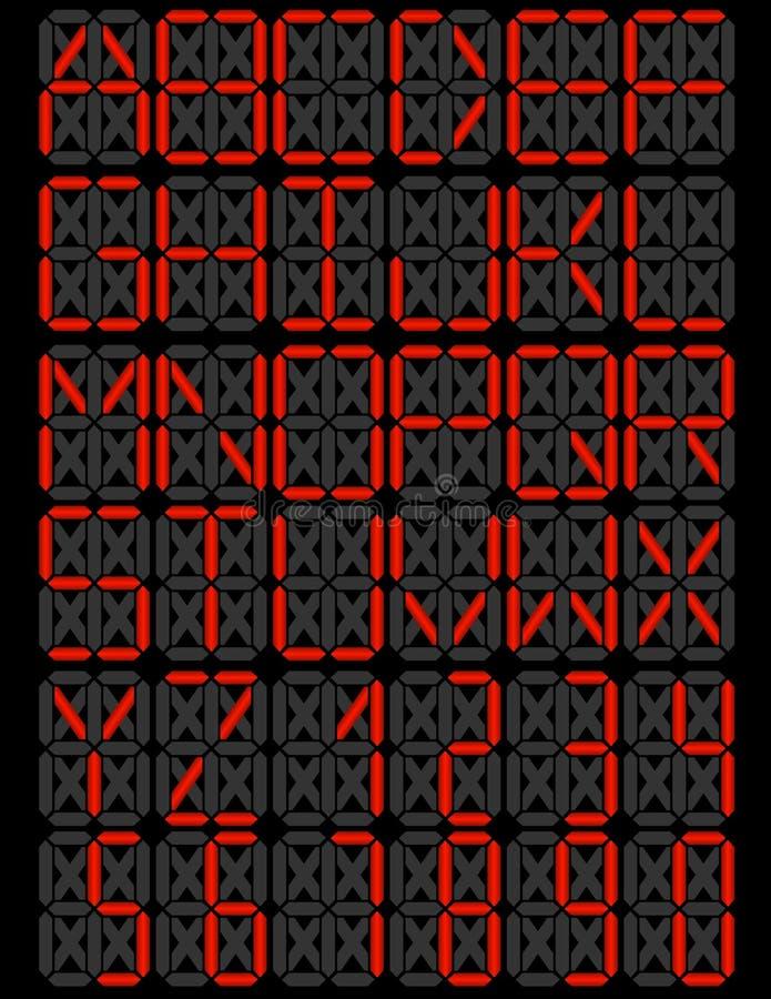 LED Digital Display Font Set
