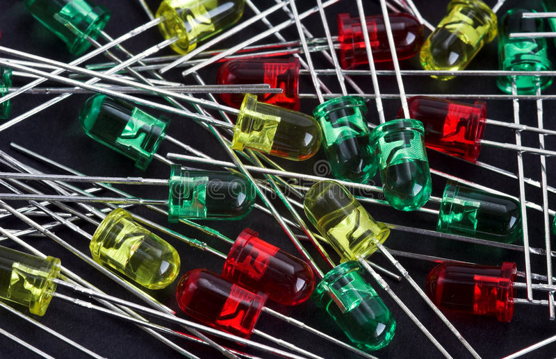 LED diode. Light emmiting diode stock photography