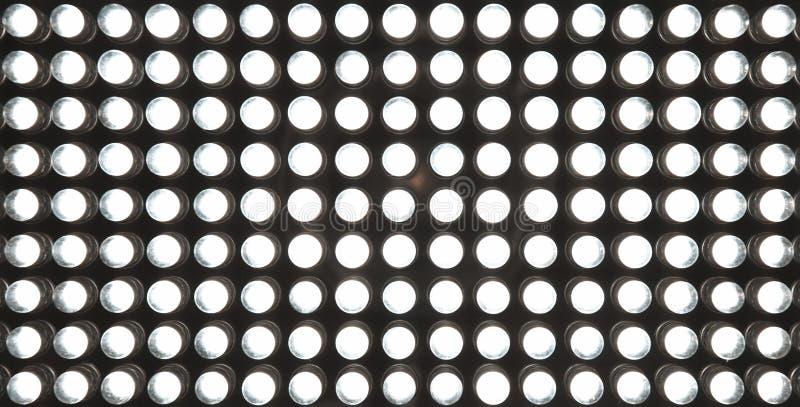 Led diode panel with light. Led panel background. Macro shot royalty free stock photo