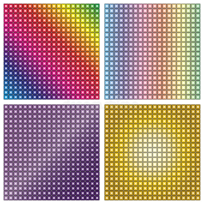 LED display screen background texture. Led screen multi colored effect.Increased by Adobe Illustrator AI Vector Format royalty free illustration