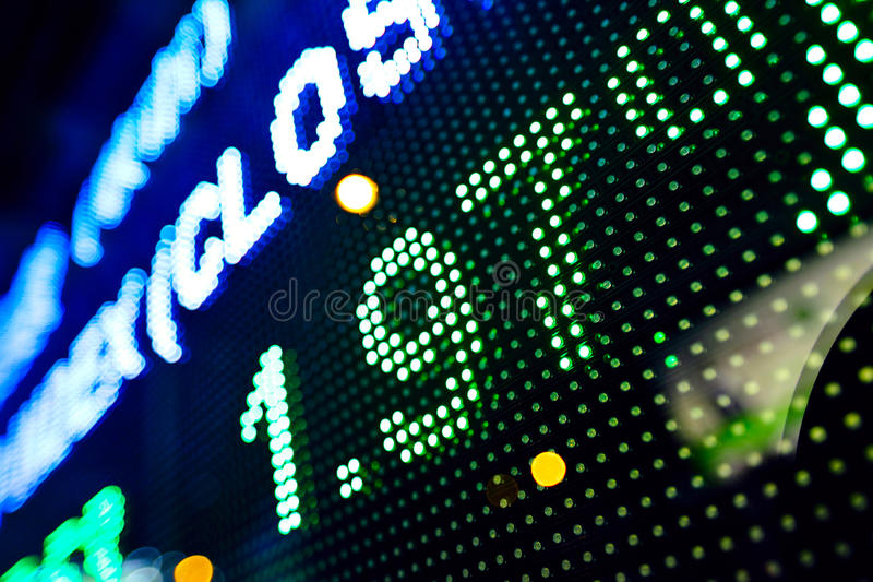 Led display stock infomation abstract royalty free stock image