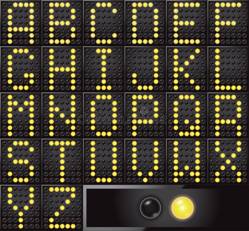 Download Led dot display letters stock illustration. Image of vector - 33318063