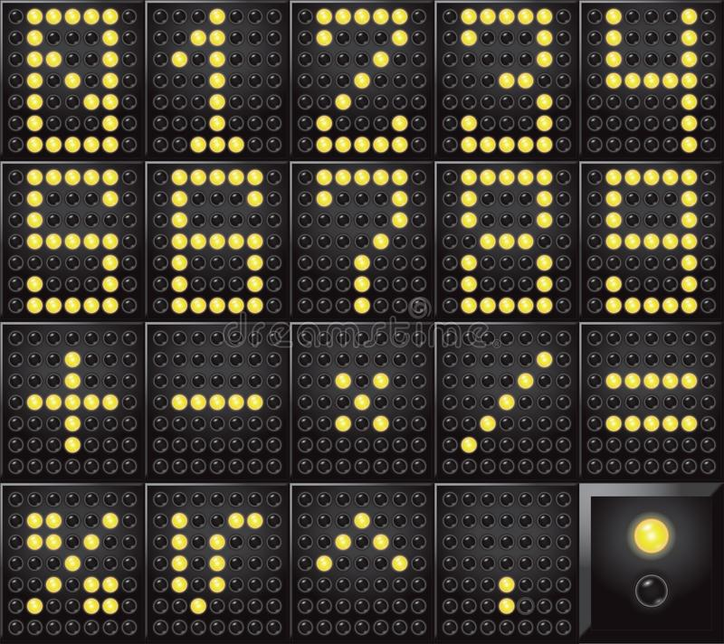 Led dot display numbers