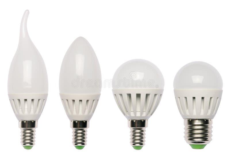 LED energy saving bulb. Light-emitting diode. royalty free stock photo