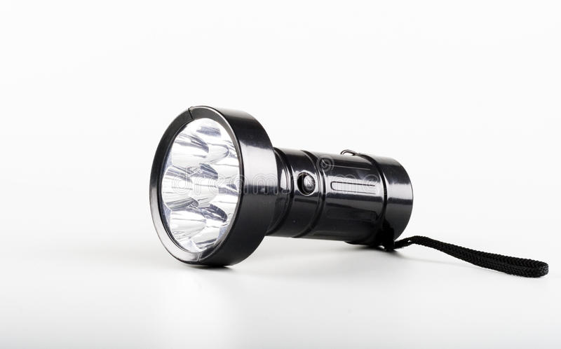 An LED Flashlight torch royalty free stock photography