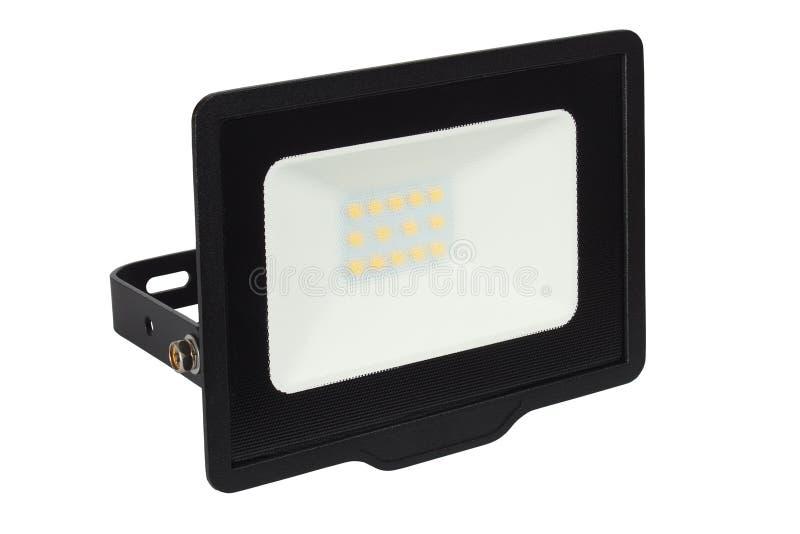 LED floodlight on white royalty free stock images