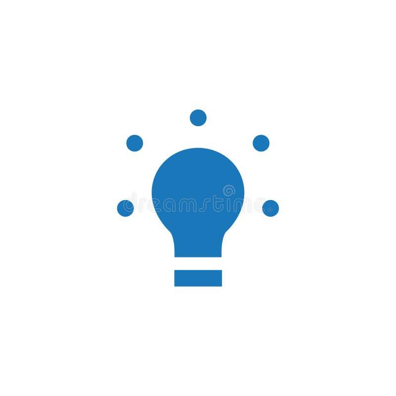 LED, icono plano de la bombilla, ejemplo del vector aislado en el fondo blanco libre illustration
