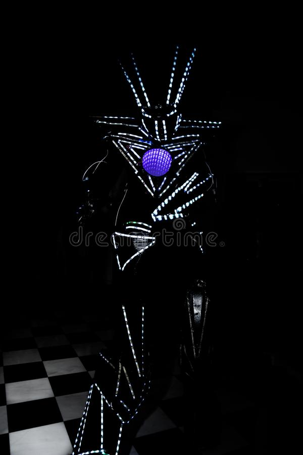 Led illuminated robot stock images