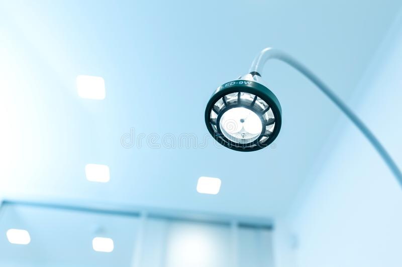 LED illumination lamp in an operating private clinic for removing moles.  royalty free stock images