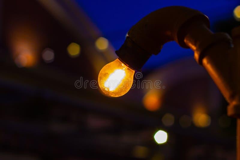 LED-Kettenlichter Tone Warm weiße LED warfen ein weiches Glühen stockfoto