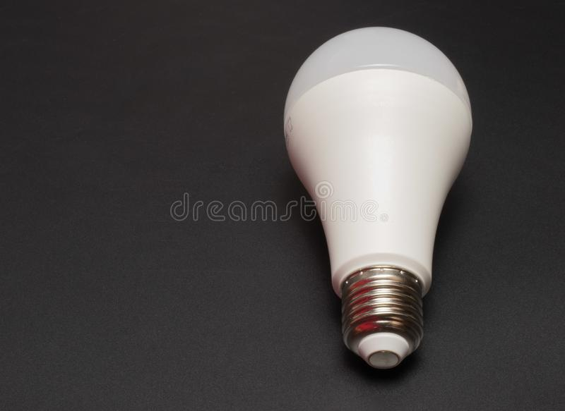 LED lamp on a black background stock images