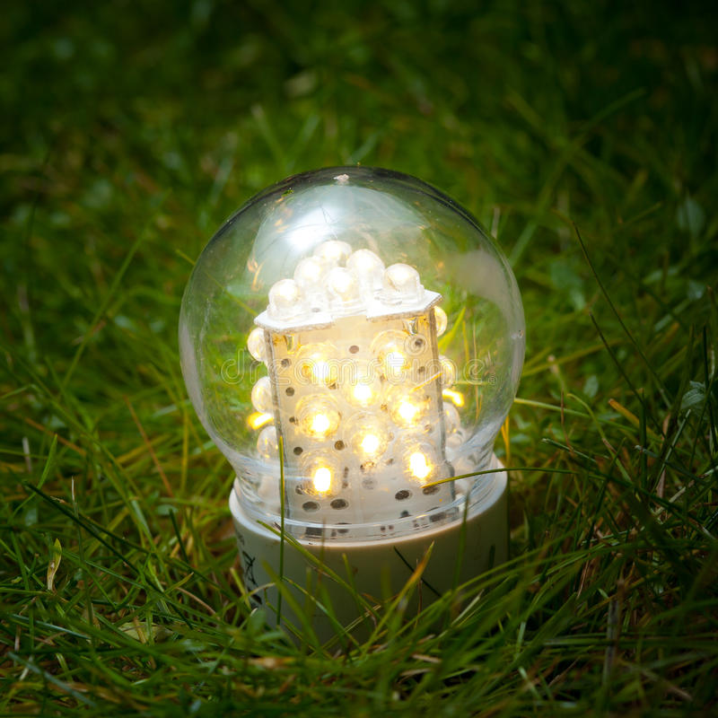Download Led lamp on the grass stock image. Image of field, environmental - 22360827