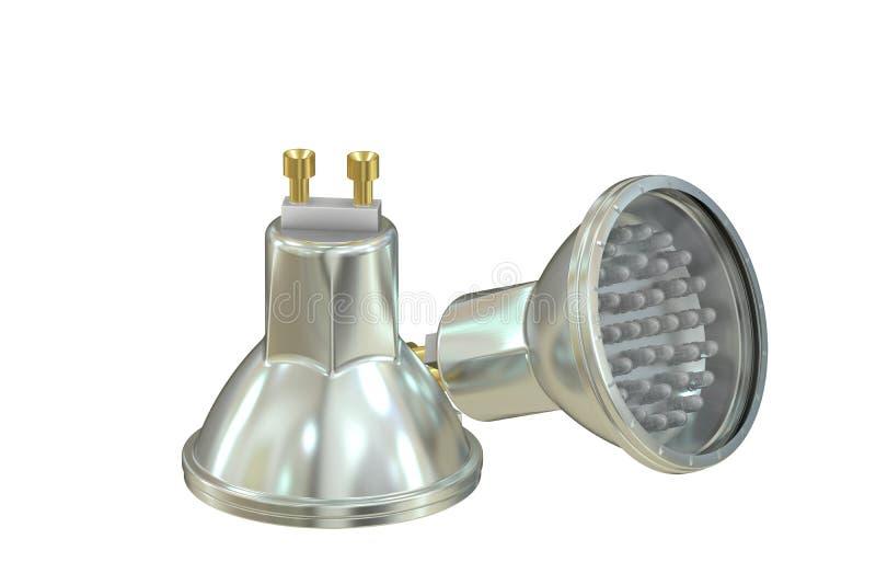 LED lamps. Isolated on white background stock illustration