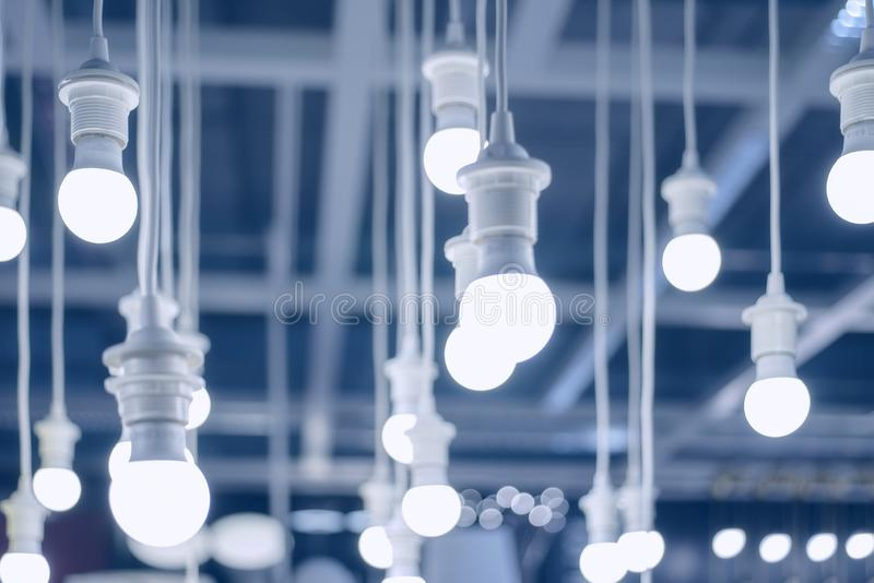 Led lamps or white lamps environment electronic.  stock image