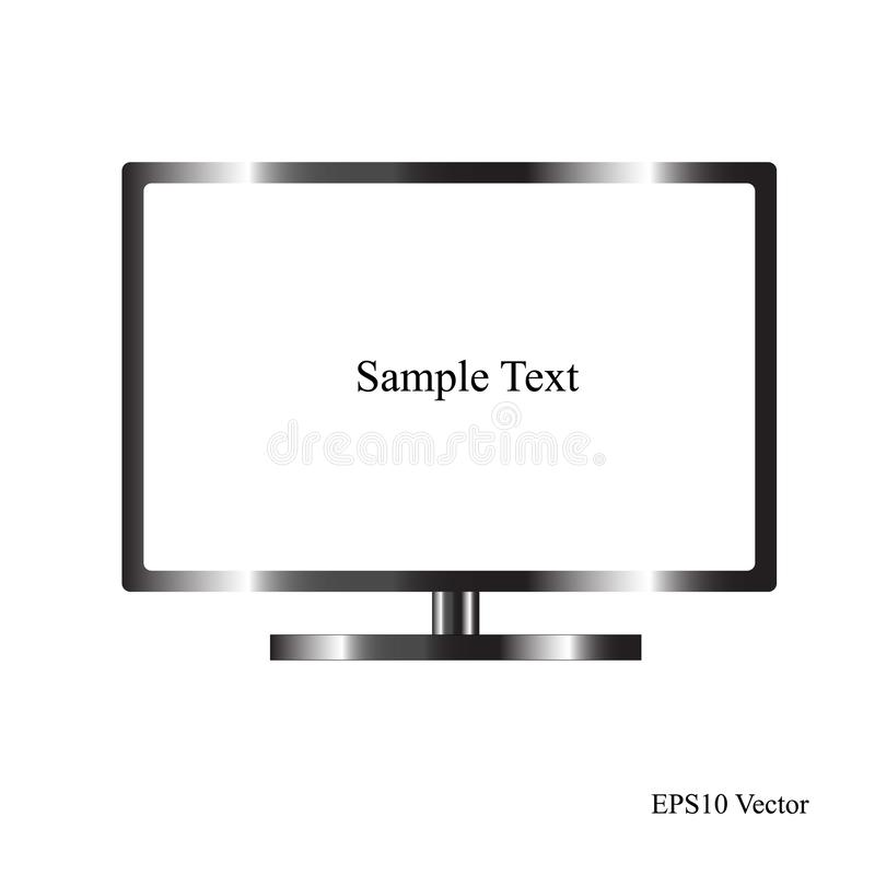 Led or Lcd TV isolate on white background. Is a general illustration royalty free illustration