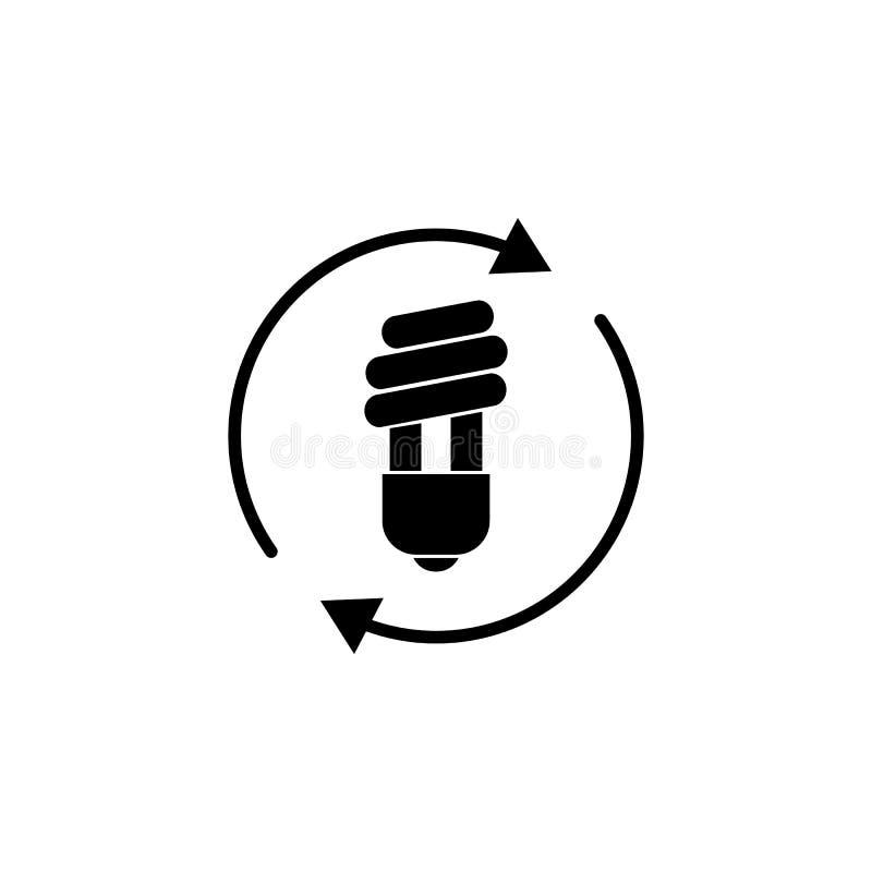 LED-Licht, Birne, Pfeilikone auf weißem Hintergrund Kann für Netz, Logo, mobiler App, UI UX verwendet werden stock abbildung