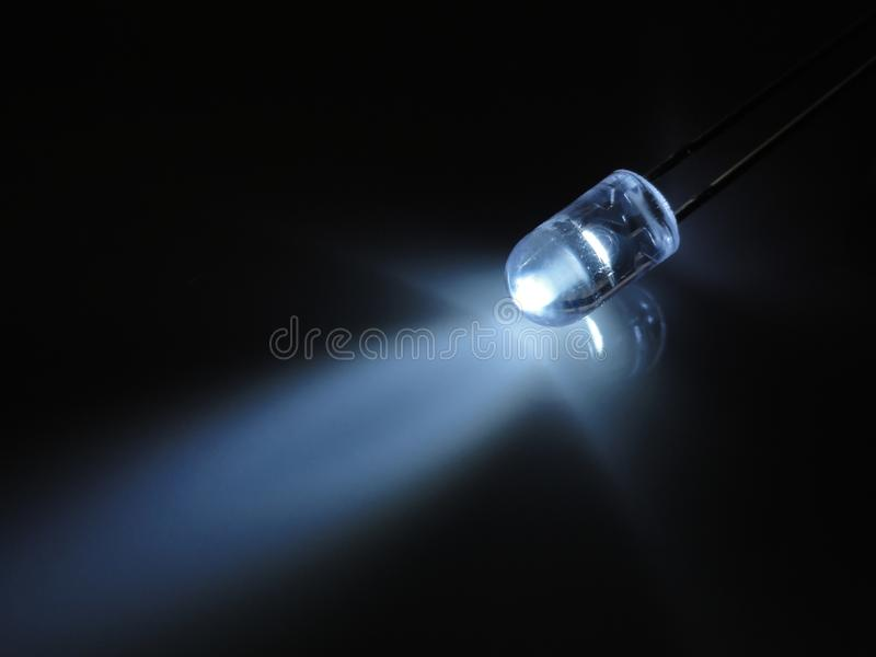 LED light. Light from a LED bulb royalty free stock photos
