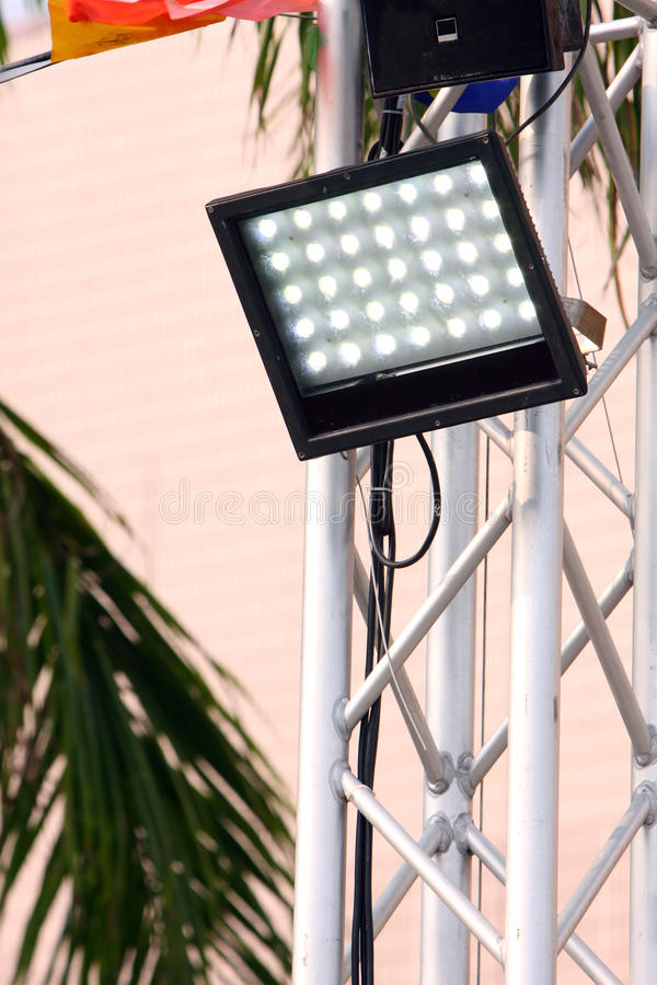 LED Light. At the outdoor event stock photos