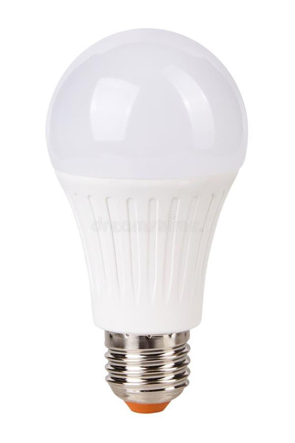 LED Light bulb isolated on white royalty free stock photography