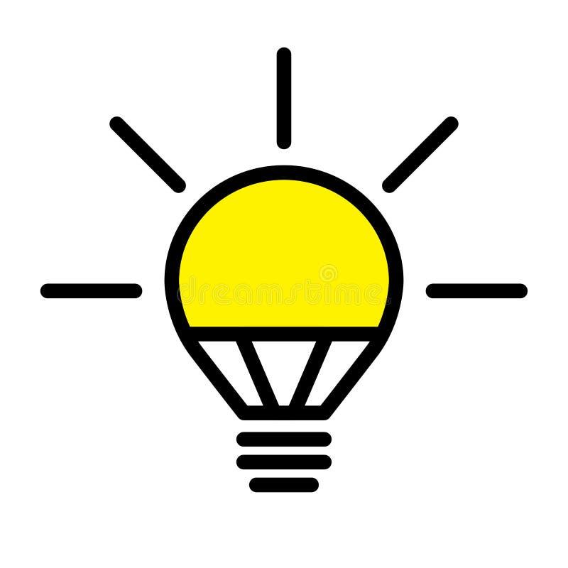 LED Light Bulb Lamp stock vector. Illustration of creativity - 114344322