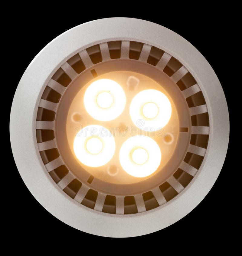 Download LED Light Bulb Lit From Above Royalty Free Stock Photo - Image: 25971415
