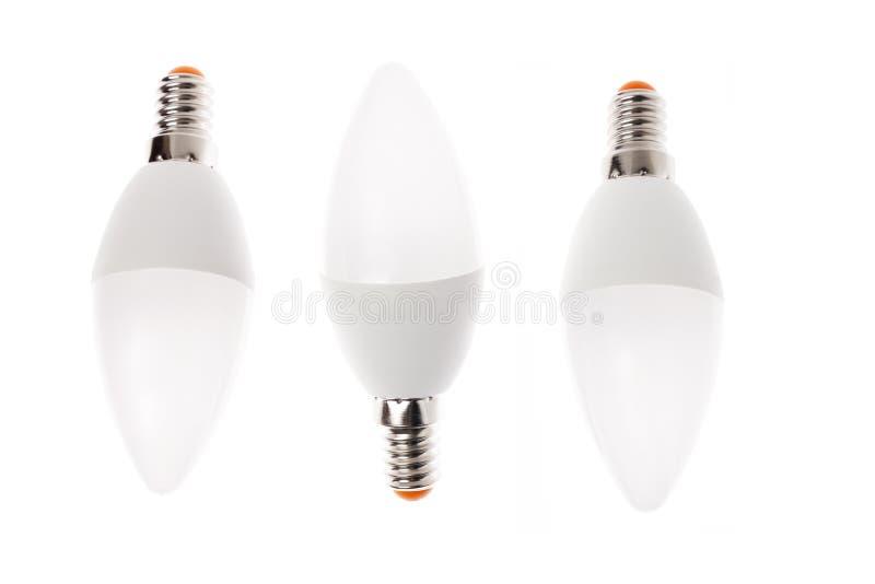 LED light bulb New technology isolated on white background, Energy saving electric lamp is good for ecology. LED light bulb New technology isolated on white stock image