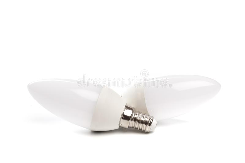 LED light bulb New technology isolated on white background, Energy saving electric lamp is good for environment. - Image. LED light bulb New technology isolated stock photography