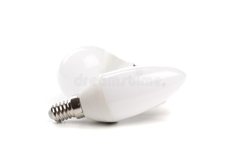 LED light bulb New technology isolated on white background, Energy saving electric lamp is good for environment. - Image. LED light bulb New technology isolated stock images