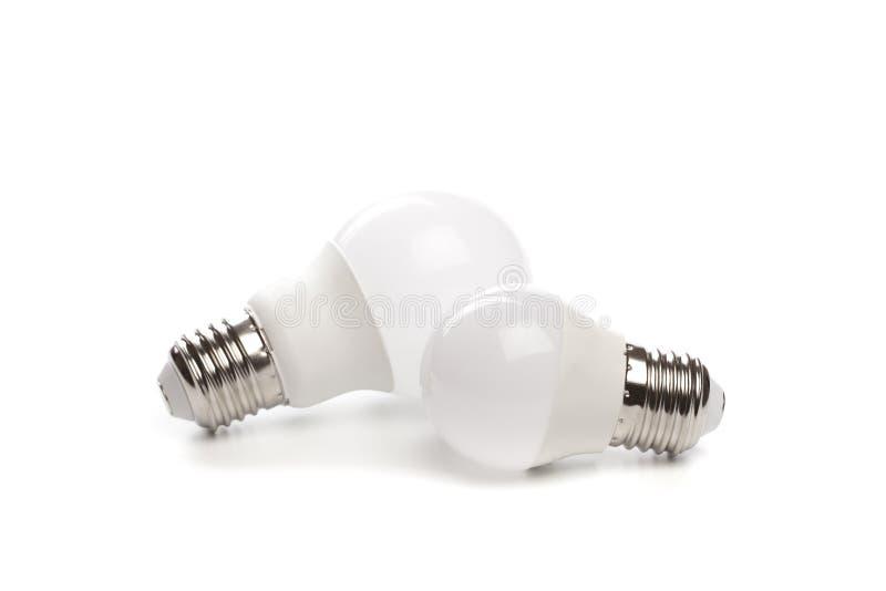 LED light bulb New technology isolated on white background, Energy saving electric lamp is good for environment. - Image. LED light bulb New technology isolated stock image