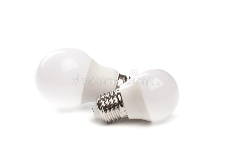 LED light bulb New technology isolated on white background, Energy saving electric lamp is good for environment. - Image. LED light bulb New technology isolated stock photo
