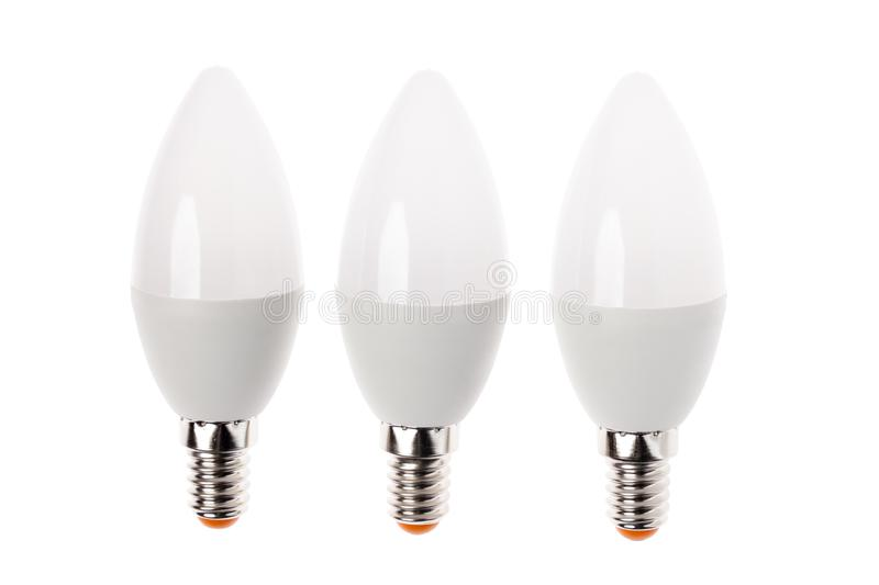 LED light bulb New technology isolated on white background, Energy saving electric lamp is good for ecology. LED light bulb New technology isolated on white royalty free stock photography