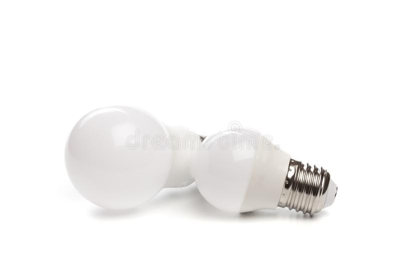 LED light bulb New technology isolated on white background, Energy saving electric lamp is good for environment. - Image. LED light bulb New technology isolated royalty free stock image