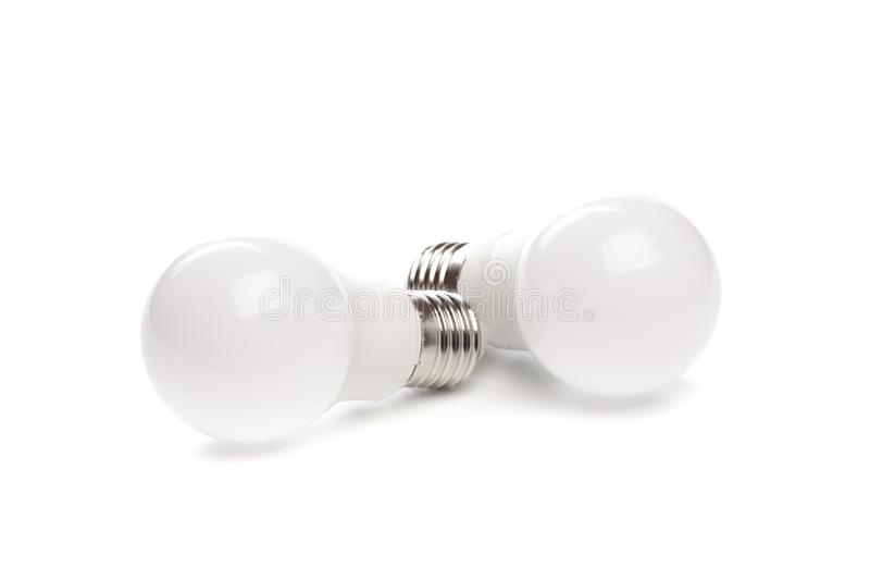 LED light bulb New technology isolated on white background, Energy saving electric lamp is good for environment. - Image. LED light bulb New technology isolated royalty free stock photos