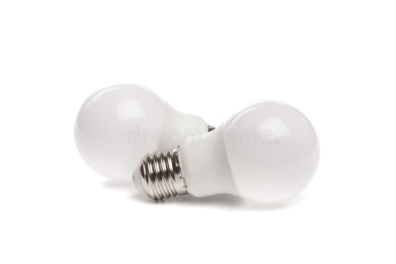 LED light bulb New technology isolated on white background, Energy saving electric lamp is good for environment. - Image. LED light bulb New technology isolated royalty free stock images