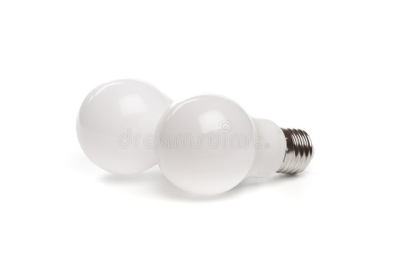 LED light bulb New technology isolated on white background, Energy saving electric lamp is good for environment. - Image. LED light bulb New technology isolated royalty free stock photography