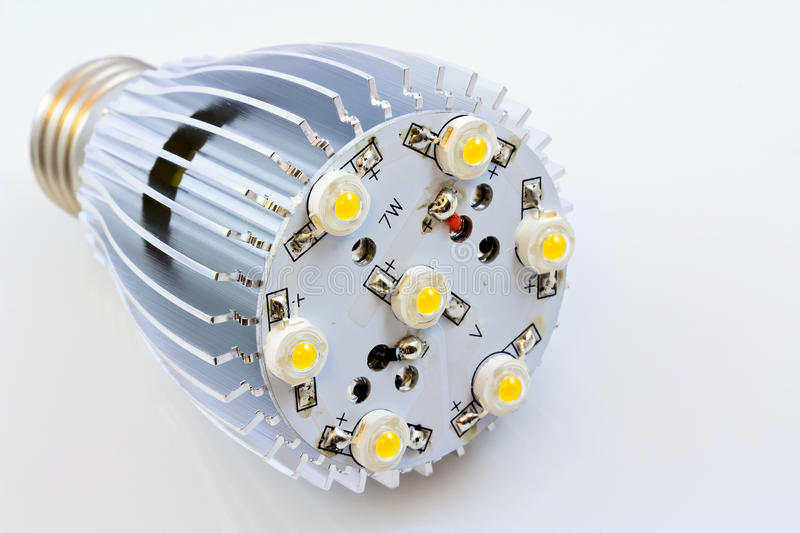 LED Light Bulbs With 1 Watts SMD Chips Royalty Free Stock Images