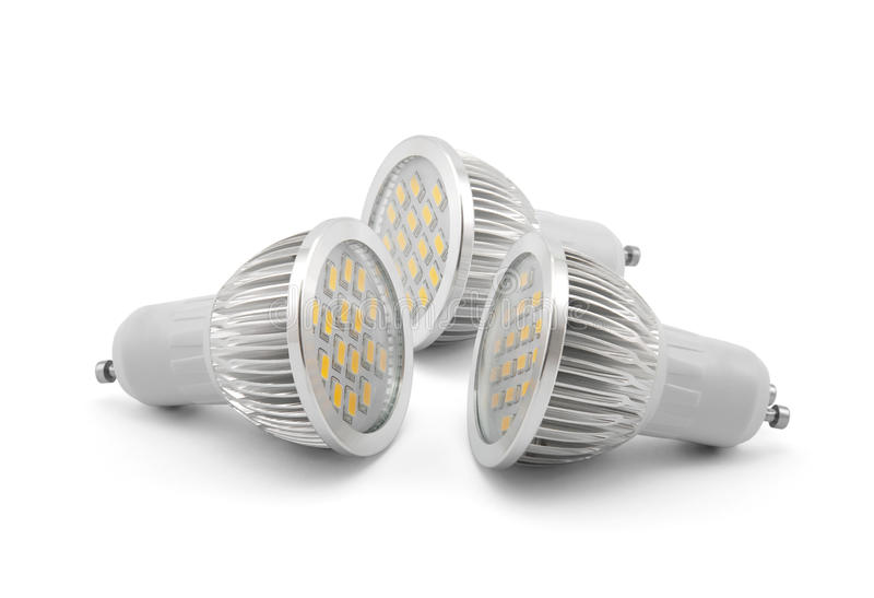 Led light bulbs royalty free stock photography
