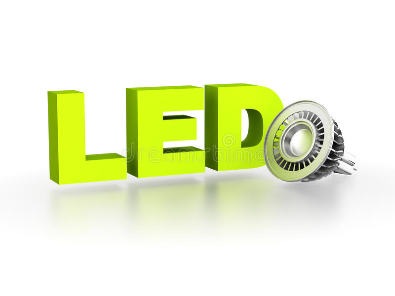LED (Light Emitting Diode) lamp. Computer generated image (3d render stock illustration