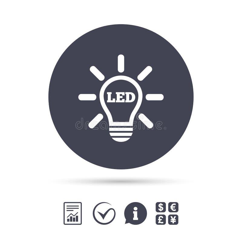 Led Light Lamp Icon Energy Symbol Stock Vector Illustration Of