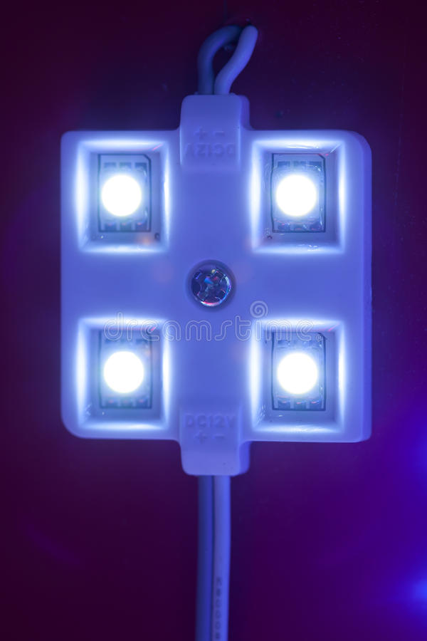 Download Led light module stock photo. Image of object, blue, closeup - 27229034